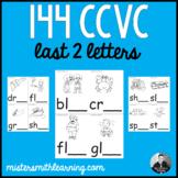 144 CCVC Last 2 Letters