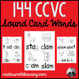 144 CCVC Sound Card Words (Black and White)