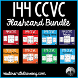 144 CCVC Word Flashcards Bundle