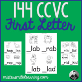 144 CCVC Words First Letter