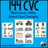 144 CVC Flash Cards- Color