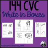 144 CVC Words Write in Boxes