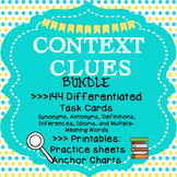 144 Differentiated Context Clues Task Cards; Context Clues