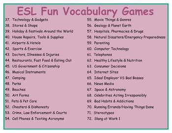 144 Grammer & Vocabulary Board Games Whopper Pack Game Bundle