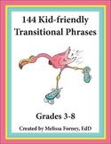 Transitional Phrases Grades 3 - 8