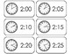 144 Printable Deluxe How To Tell Time Flashcards. Elementary Math.