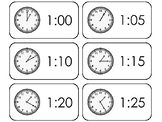 144 Printable Deluxe How To Tell Time Flashcards. Elementa