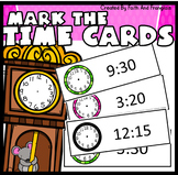 144 Tell Me The Time Cards (for use with dry erase markers)