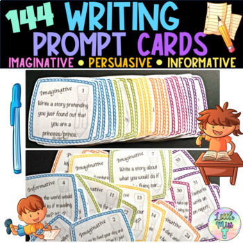 144 Writing prompt cards - Daily 5 - Fast finisher activity
