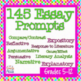 Essay Prompts and Essay Topics 145 Reflective, Narrative,