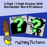 Interpret The Remainder Word Problems Task Cards, Division 3 By 1 Digit Numbers
