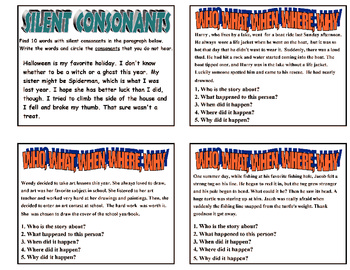 146 LITERACY TASK CARDS Grades 2-3 (Main Idea, Fact/Opinion, Paragraph Writing,)