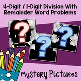 Fun Long Division Worksheets 4 Digit By 1 Digit Division Word Problem Strategies