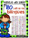 148 Letreros bilingües de vocabulario para la pared