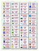 148 Letreros bilingües de vocabulario para la pared