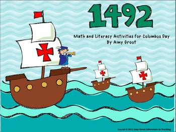 1492 Columbus Day Math and Literacy Activities by Curriculum Craze