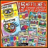 Affiches illustrant le langage plastique des arts, en français (15 affiches)