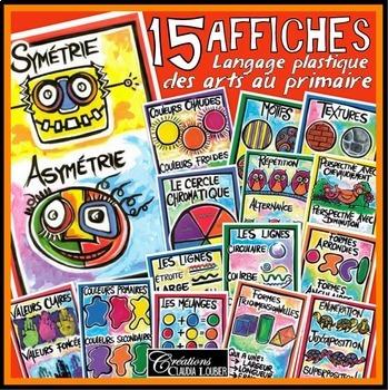 Affiches illustrant le langage plastiques des arts, França