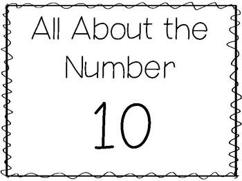 15 All About the Number 10 Tracing Worksheets and Activities. Preschool-1st  Grad