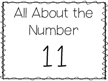 15 All About the Number 11 Tracing Worksheets and Activities. Preschool-1st  Grad
