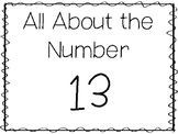 15 All About the Number 13 Tracing Worksheets and Activiti