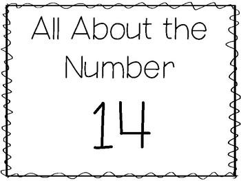 Number 14 Worksheets For Preschool | Teachers Pay Teachers