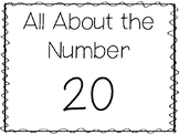 15 All About the Number 20 Tracing Worksheets and Activities. Preschool-1st Grad