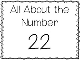 15 All About the Number 22 Tracing Worksheets and Activiti