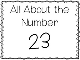 15 All About the Number 23 Tracing Worksheets and Activiti