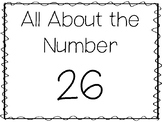 15 All About the Number 26 Tracing Worksheets and Activiti