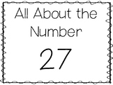 15 All About the Number 27 Tracing Worksheets and Activiti