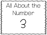 15 All About the Number 3 Tracing Worksheets and Activitie