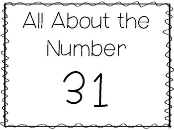 15 All About the Number 31 Tracing Worksheets and Activities. Preschool-1st  Grad