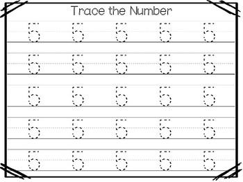 Number 5 Worksheets For Kindergarten