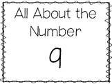 15 All About the Number 9 Tracing Worksheets and Activities. Preschool-1st Grade