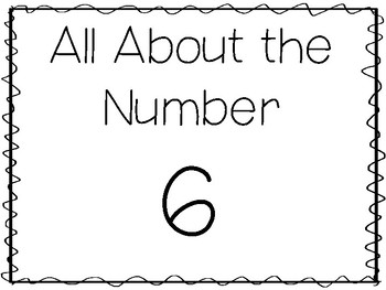 15 All About the Number 6 Tracing Worksheets and Activities. Preschool-1st  Grade