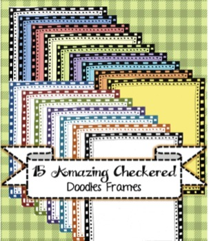 15 Amazing Checkered Doodle Frames