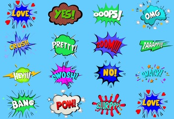 15 Animated Comic 'Bubble & Text' Combos #1