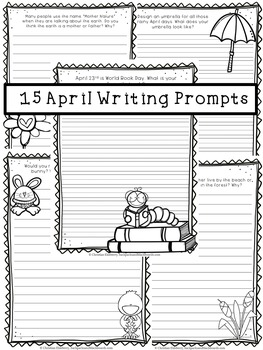 15 April Writing Prompts (ESL Approved)