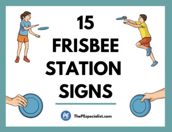 15+ Awesome Frisbee Throwing Station Signs | Printable Activity Signs |