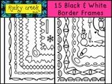 15 Black and White Border Frames
