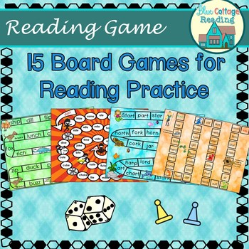 15 No Prep. Board Games for Reading Practice