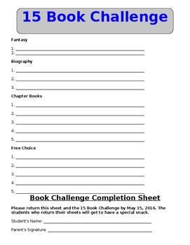 15 Book Challenge