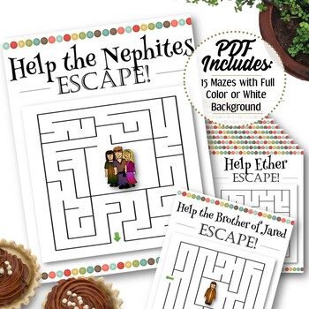 15 Book of Mormon Mazes - INSTANT DOWNLOAD