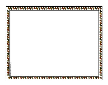 15 Fall Themed Borders and Frames for Commerical/Personal Use
