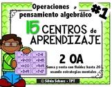 15 Centros de matemáticas para practicar operaciones y pensamiento algebraico
