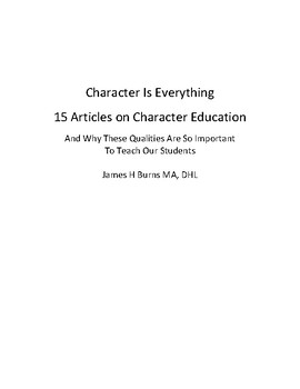 15 Character Qualities The We Must Teach To Our Students