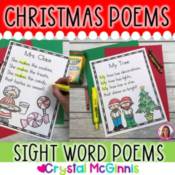 14 Christmas Themed Sight Word Poems for Shared Reading (for beginning readers)
