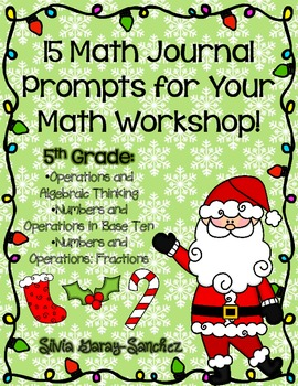 15 Christmas/Winter Math Journal Prompts for Your Math Workshop
