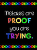 15 Inspirational Classroom Quotes Posters (black background)